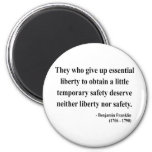 Ben Franklin Quote 1a Magnets