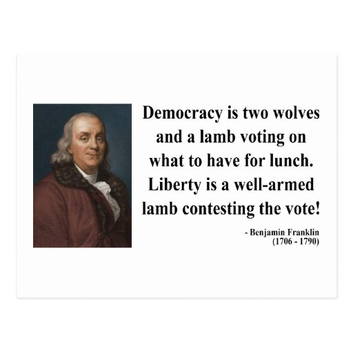 Ben Franklin Quote 2b Postcard