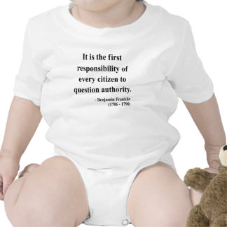 Ben Franklin Quote 3a Rompers
