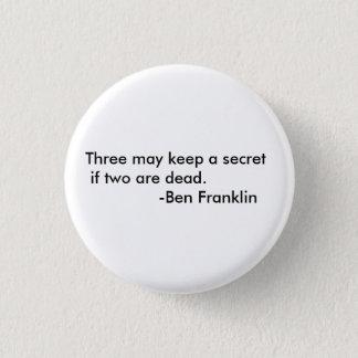 Ben Franklin quote button