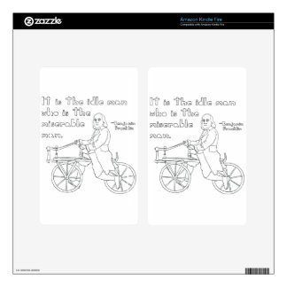 Ben Franklin Quote On Bike Kindle Fire Skins