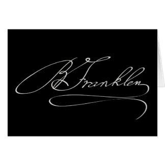 Ben Franklin Signature Card
