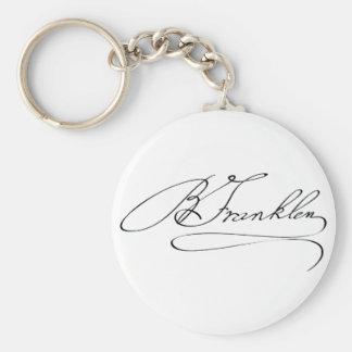 Ben Franklin Signature Keychain
