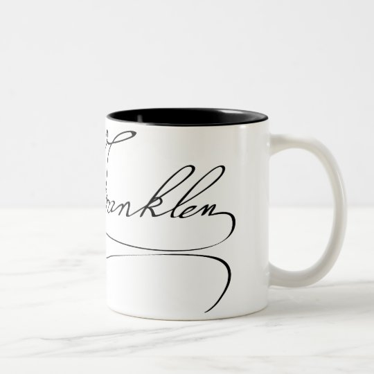 Ben Franklin Signature Two-Tone Coffee Mug