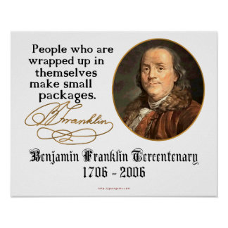 Ben Franklin - Small Packages Print