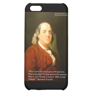 Ben Franklin (What Is Wise) Quote Gifts & Cards iPhone 5C Cases