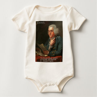 """Ben Frankling Wisdom Quote """"Any Fool"""" Gifts & Card Baby Bodysuit"""