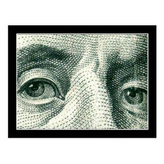 Ben Franklin's Eyes Postcard
