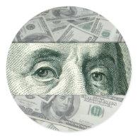 Ben Franklin's Eyes Stickers
