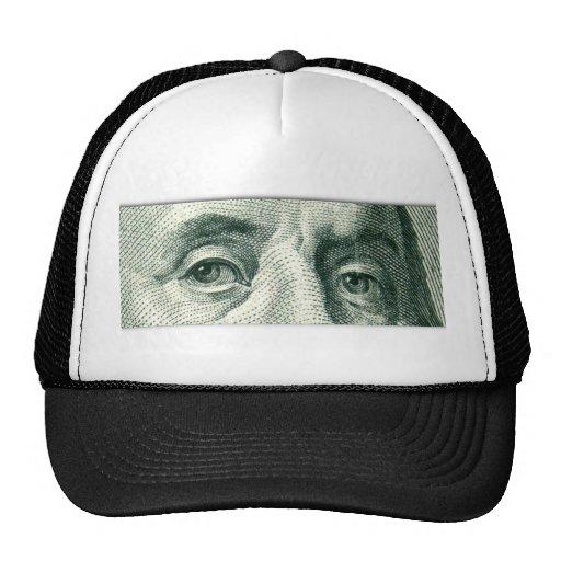 Ben Franklin's Eyes Trucker Hats
