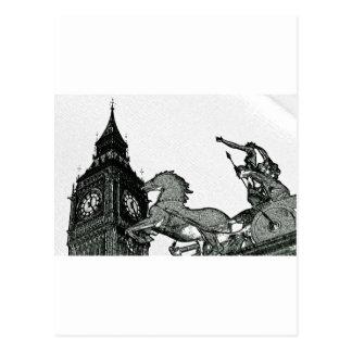 ben grande y estatua del boudica tarjetas postales