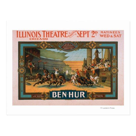 Ben-Hur at Chicago's Illinois Theatre Poster Postcard
