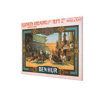 Ben-Hur en el poster del teatro de Illinois de Chi Lona Envuelta Para Galerías