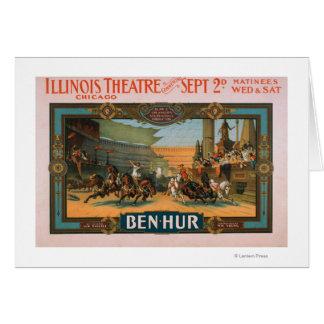 Ben-Hur en el poster del teatro de Illinois de Chi Tarjeta De Felicitación
