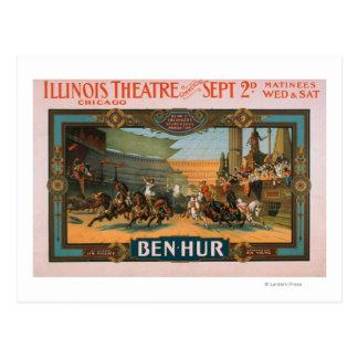 Ben-Hur en el poster del teatro de Illinois de Tarjetas Postales