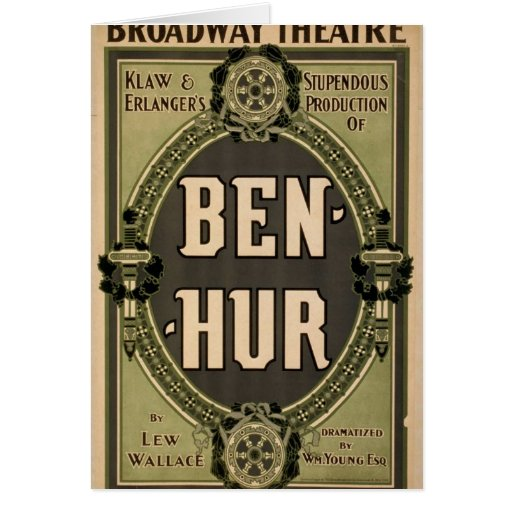 Ben-Hur, 'Lew Wallace' Retro Theater Greeting Card