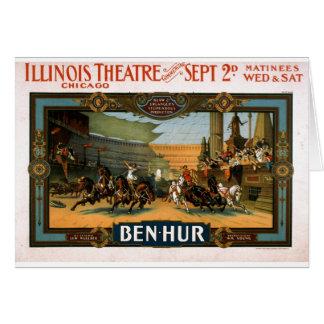 Ben Hur - poster del juego de Broadway Felicitación