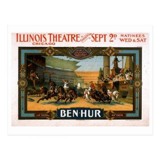 Ben Hur - poster del juego de Broadway Tarjeta Postal