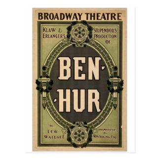 """Ben-Hur, teatro retro de """"Lew Wallace"""" Postal"""
