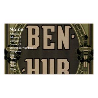 Ben-Hur teatro retro de Lew Wallace Tarjetas Personales