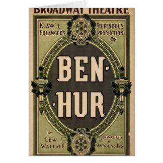 """Ben-Hur, teatro retro de """"Lew Wallace"""" Tarjeta De Felicitación"""
