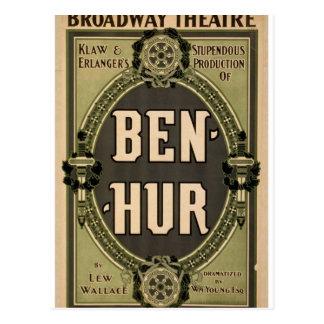 """Ben-Hur, teatro retro de """"Lew Wallace"""" Postales"""