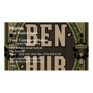 """Ben-Hur, teatro retro de """"Lew Wallace"""" Tarjetas De Visita"""