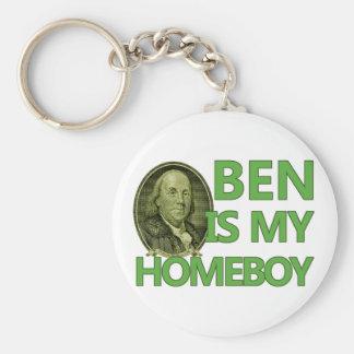 Ben Is My Homeboy Basic Round Button Keychain