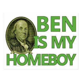 Ben Is My Homeboy Postcard