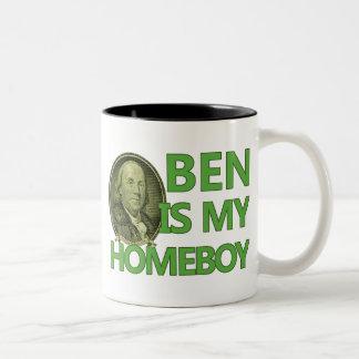 Ben Is My Homeboy Two-Tone Coffee Mug