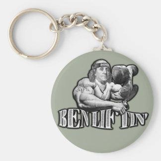 Ben Liftin Bodybuilding Ben Franklin Keychain