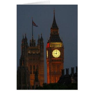 Ben-Londres-Inglaterra grande Tarjeta De Felicitación