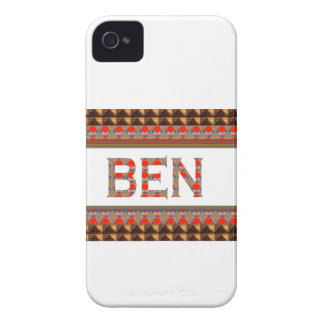 BEN name: Template Add your NAME or Photo  GOODLUC iPhone 4 Case-Mate Cases