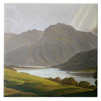 Ben Nevis, placa XII del 'paisaje del Grampian Azulejo Cuadrado Grande
