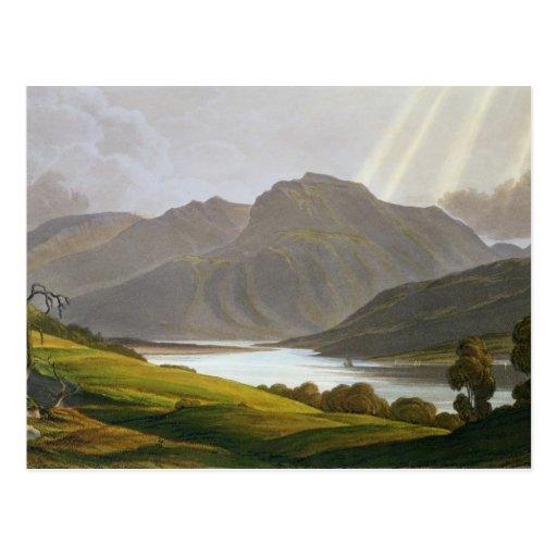Ben Nevis, placa XII del 'paisaje del Grampian Postal