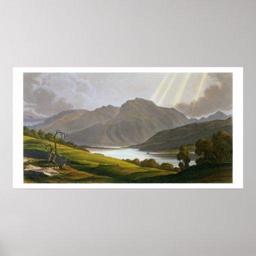 Ben Nevis, placa XII del 'paisaje del Grampian Póster