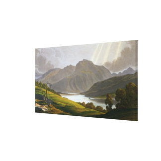 Ben Nevis, plate XII from 'Scenery of the Grampian Canvas Print