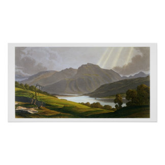Ben Nevis, plate XII from 'Scenery of the Grampian Poster