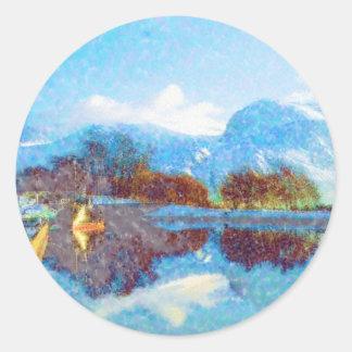 Ben_Nevis_Scotland Classic Round Sticker