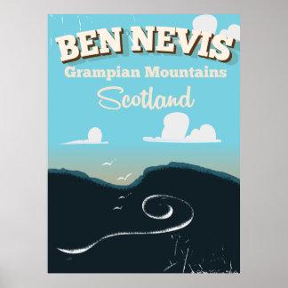 Ben Nevis vintage travel poster