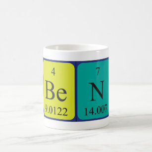 Name spelled with chemical elements coffee travel mugs zazzle ben periodic table name mug urtaz Image collections