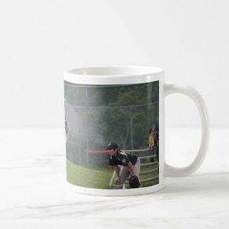 Ben pitching button coffee mug
