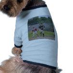 Ben pitching button dog tshirt