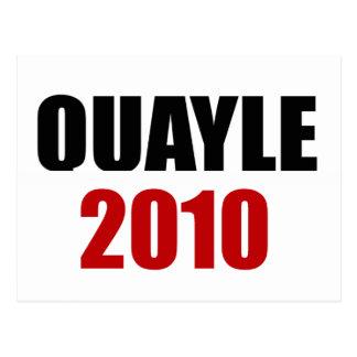 BEN QUAYLE 2010 POSTCARD