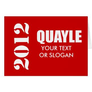 BEN QUAYLE 2012 GREETING CARD