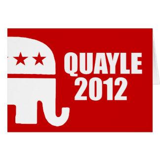 BEN QUAYLE 2012 CARD