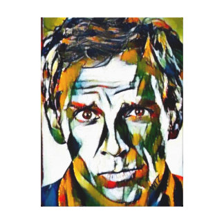 Ben Stiller Oil Portrait Canvas Print