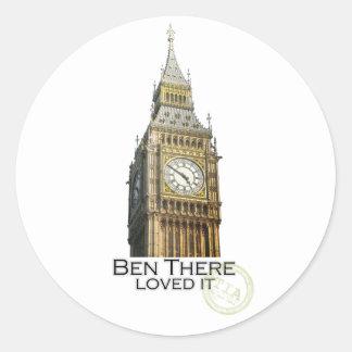 Ben There Classic Round Sticker