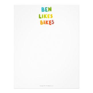 Ben tiene gusto de los regalos conocidos coloridos membretes personalizados