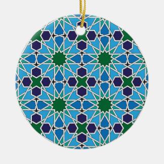 Ben Yusuf Madrasa Geometric Patterrn 10 Ceramic Ornament